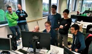 Collaboration entre plusieurs coworkers de la RueDuWeb